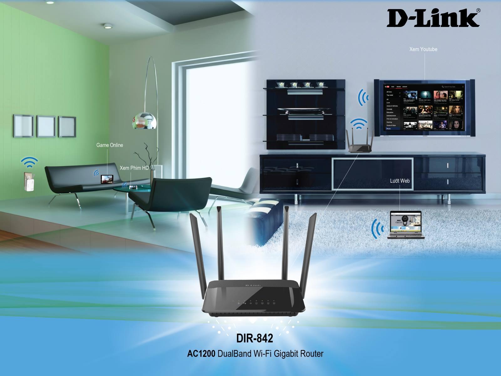 Thiết bị phát wifi DLink DIR 842