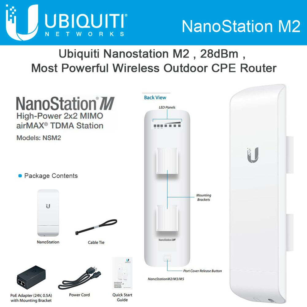 Thiết bị kết nối Wifi Ubiquiti NanoStation M2