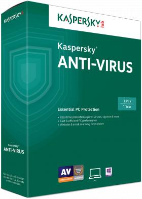 Phần mềm diệt virus Kaspersky Antivirus 1 máy tính (KAS 1PC)