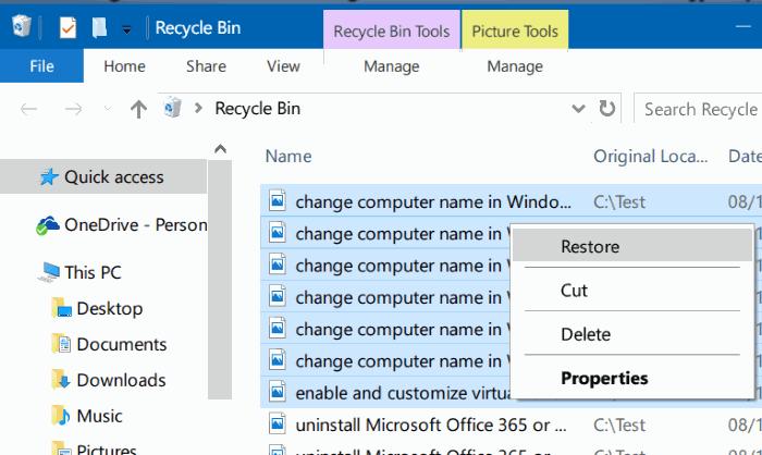 Làm thế nào để xem các tập tin đã xóa gần đây trên Windows 10?