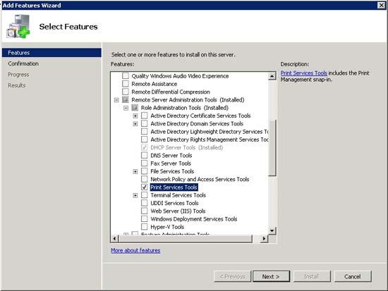 Cài đặt máy in server 2008